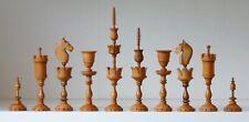 "Fine quality  ""Selenus"" style chess set in Ebony/boxwood   K=125mm (5"")"