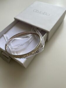 """CHLOBO Silver Bangle """"The Rules"""" Small **BRAND NEW**"""