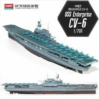 Academy #14224 USS Enterprise CV-6 Aircraft Carrier 1/700 Plastic Model rj