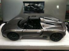 1:18 rarità - CONCETTO Porsche 918 Spyder Prototipo LIQUID ARGENTO dealerversion