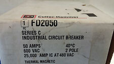 CUTLER HAMMER FD2050 NEW IN BOX 2P 600V 50A BREAKER SEE PICS #A61