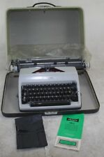 Vintage 1970's Olympia SM9 DeLuxe Portable Typewriter & Carrying Case