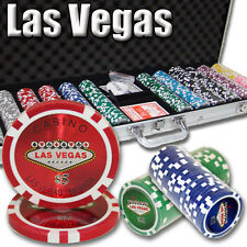 New 600 Las Vegas 14g Clay Poker Chips Set with Aluminum Case - Pick Chips!