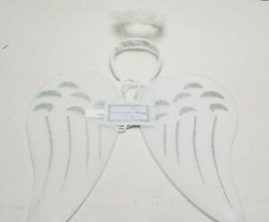 Children's White & Silver Angel Wings and Halo Headband Nativity Christmas Play