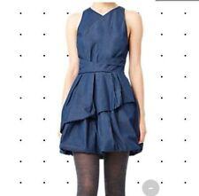 Kate Spade Saturday Double Bubble Denim Blue Dress sz 10 SUPER FUN!
