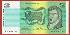 Australia Nd(1983) $2.00 Pick#43d Cu & 3 Other $2.00 (1976-85) Vf-Au Lot Price