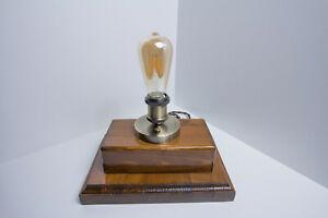 Lampada Moderna Da Tavolo In Legno Vintage Edison Scrivania Antico/design #3