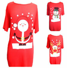 Christmas Short Sleeve Plus Size Tops & Shirts for Women