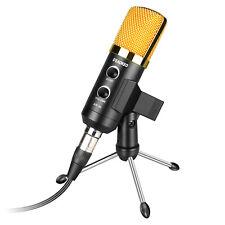 Aokeo 3.5mm /USB Condenser MicrophoneTripod Stand Studio audio Sound Recording