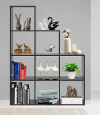 9 Cube Bookcase Step Shelving Unit Bookshelf Office Organiser Storage Shelf Wood
