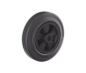 Gummi Rad 160 mm Kunststofffelge Vollgummi schwarz Polypropylenfelge Rollenlager