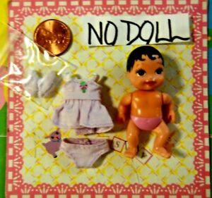 Krissy Happy Family Baby Doll Clothes New Mini Itty Bitty Lavender Dress Set 3pc