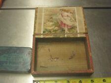 La Belle cigaros wood box and edgeworth pipe tabacco tin