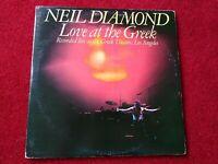 "Neil Diamond - Love At The Greek 12"" LP Vinyl  Album Double Album  1977"