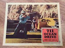 711 OCEAN DRIVE Original Vintage FILM NOIR Lobby Card EDMOND O'BRIEN JOANNE DRU