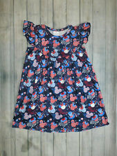 NWT Boutique Minnie Mickey Mouse Patriotic 4th of July Girls Dress