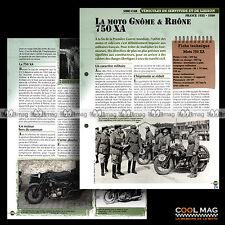 #vm050.08 ★ GNOME RHÔNE 750 XA FRANCE MOTO 1935-50 ★ Fiche Véhicule Militaire