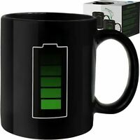 Coffee Magic Mug - Color Changing Heat Sensitive - Battery Mug Charging Design