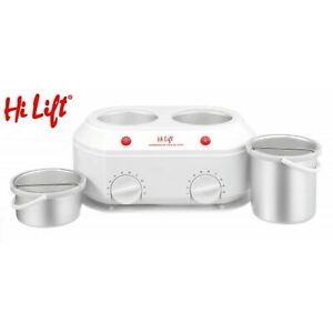 Hi Lift  Twin Wax Pot, 1 litre and 500mm, Removable Inserts 2 SWITCHES