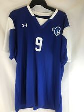 Under Armour Heatgear Soccer Jersey Blue / White Mens Large
