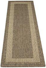 Oriental Weavers, Greek Key FlatWeave Bordered Rug, Grey, 60 x 230cm