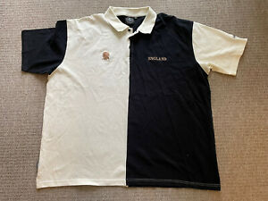 Guinness England Rugby Union Shirt Top Jersey Polo Rare Black White Men Size 5XL