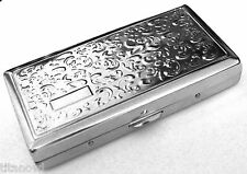 Victorian Style Cigarette Case Double Sided King & 100s Boteh Pattern 4x2inch