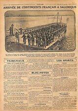 Poilus de France Armée française d'Orient Port de Salonique Salonica  WWI 1915