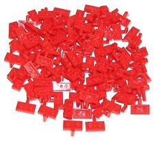 Lego Lot of 100 New Red Plates Modified 1 x 2 with Arm Up Pieces Parts