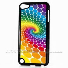 ( For iPod Touch 6 ) Back Case Cover AJ10067 Abstract Rainbow