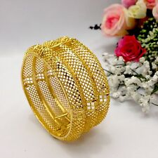 Indian Gold Plated Bangle Kada Size:2.10 Bollywood Bridal Wedding Jewellery
