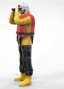 Highly-detailed Model Figure of Crew Lookout with Binoculars (70mm) G Gauge