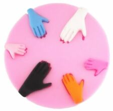 Hands 6 cavity Silicone Mold for Fondant Gum Paste and Chocolate