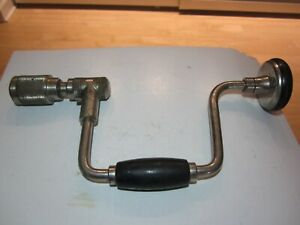"""VINTAGE STANLEY HAND BRACE DRILL NO. 2101 10""""( BELL SYSTEM)"""