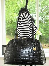 STUNNING! AUTHENTIC MULBERRY BLACK CONGO LEATHER BRETON SHOULDER HAND BAG