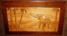Unbelievable Large Ray Muniak Signed Natural Wood Framed 3D Wooden Elephant
