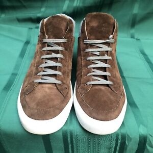 Vera Pelle Brown Suede/Leather Fashion Sneaker Lace Up Casual Men Shoes 11 44