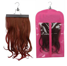 Hair Extension Carrier Dustproof Bag Wigs Stand Storage Case Protector w/ Hanger