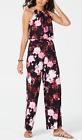 Thalia Sodi Chain Detail Jumpsuit Floral Black Purple Women's Medium New 52