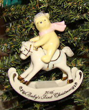 Disney Showcase Winnie the Pooh Baby's 1st Ornament (Lenox 858747) Rocking Horse