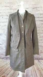 b.young Safari Button Up Lined Dress and Jacket, Tweed Print, New, Size 38 (10)