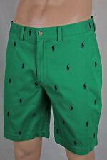 POLO Ralph Lauren Green Logo Golf Shorts/Multi-Ponies Size 31 NWT