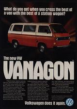 1980 VOLKSWAGEN VANAGON Bus - Station Wagon - VW - VINTAGE AD