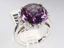 SOLID 14K GOLD COCKTAIL RING DIAMONDS AND AMETHYST 9.5C BRAND NEW & STUNNING