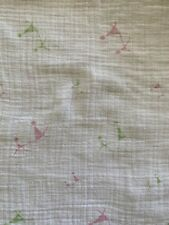 Aden + Anais Pink/Green/White Cotton Muslin Swaddle