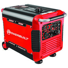 Powerbuilt Inverter Generator 3500 Watts, Super Quiet, Electric Start - 240064