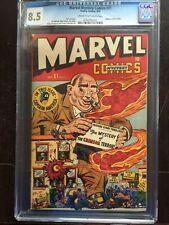 MARVEL MYSTERY COMICS #81 CGC VF+ 8.5; CM-OW; Capt America story! rare!