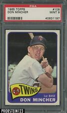 1965 Topps #108 Don Mincher Minnesota Twins PSA 9 MINT