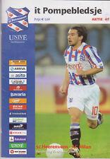 Programma / Programme SC Heerenveen v AC Milan 23-10-2008 UEFA Cup