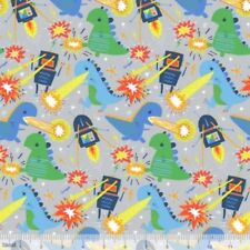 Blend Monsters & Robots by Stacy Peterson 125 103 01 2 Grey Meltdown  COTTON